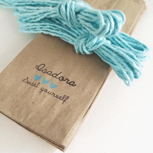 pacotes em papel kraft personalizado para casamento 100unid