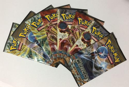 pacotinho com 5 cartas pokemon xy11 - original e lacrado