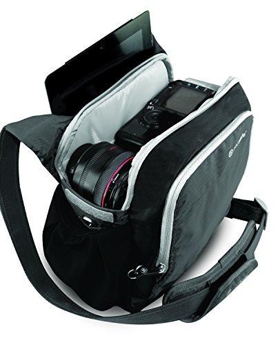 pacsafe camsafe v8 lucha contra - robo cámara hombro bolsa