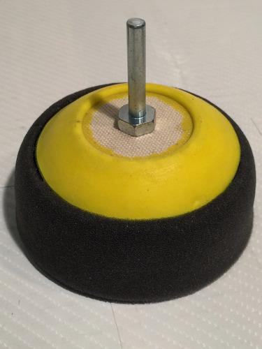 pad bonete abrillantado auto espuma usa 1 faz c/ velc.x3 p