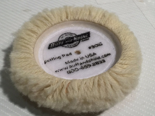 pad bonete pulido auto corderito lana usa 1 faz c/ velc.x3 p