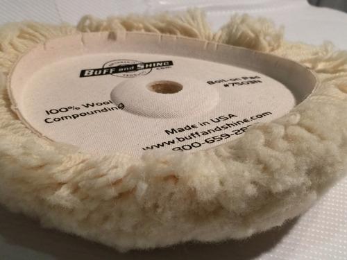 pad bonete pulido auto corderito lana usa 1 faz c/ velc.x8 p