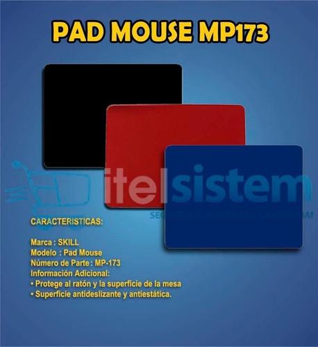 pad mouse skill rojo, azul y negro nuevo sellados itelsistem