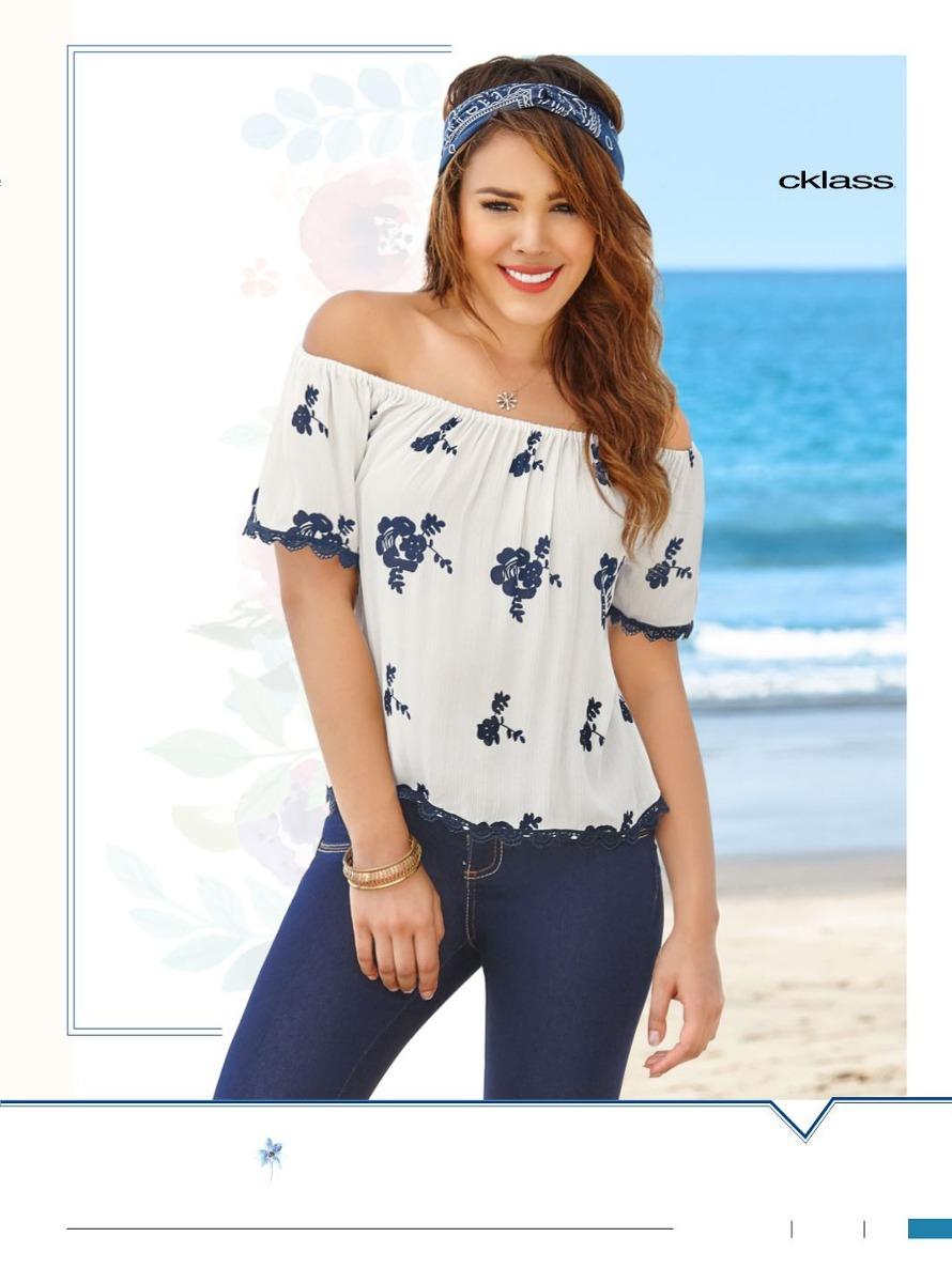 cdbe54770d9d0 Padrísima Blusa Floreada Manga Corta De Moda Cklass -   349.00 en ...
