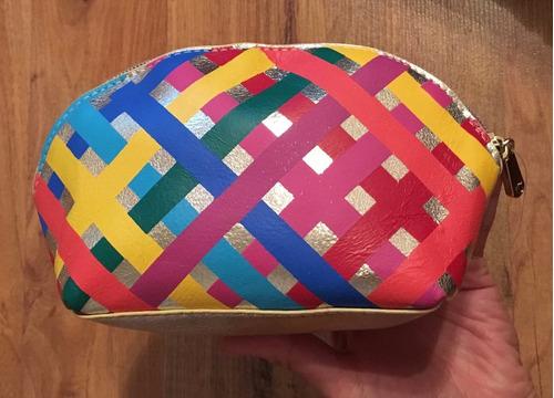 padrisima bolsa cosmetiquera colores rainbow dorado original