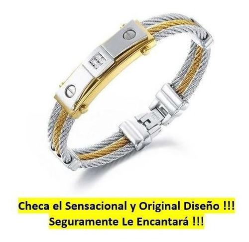 padrisima esclava pulsera para caballero oro 18k regalo amor