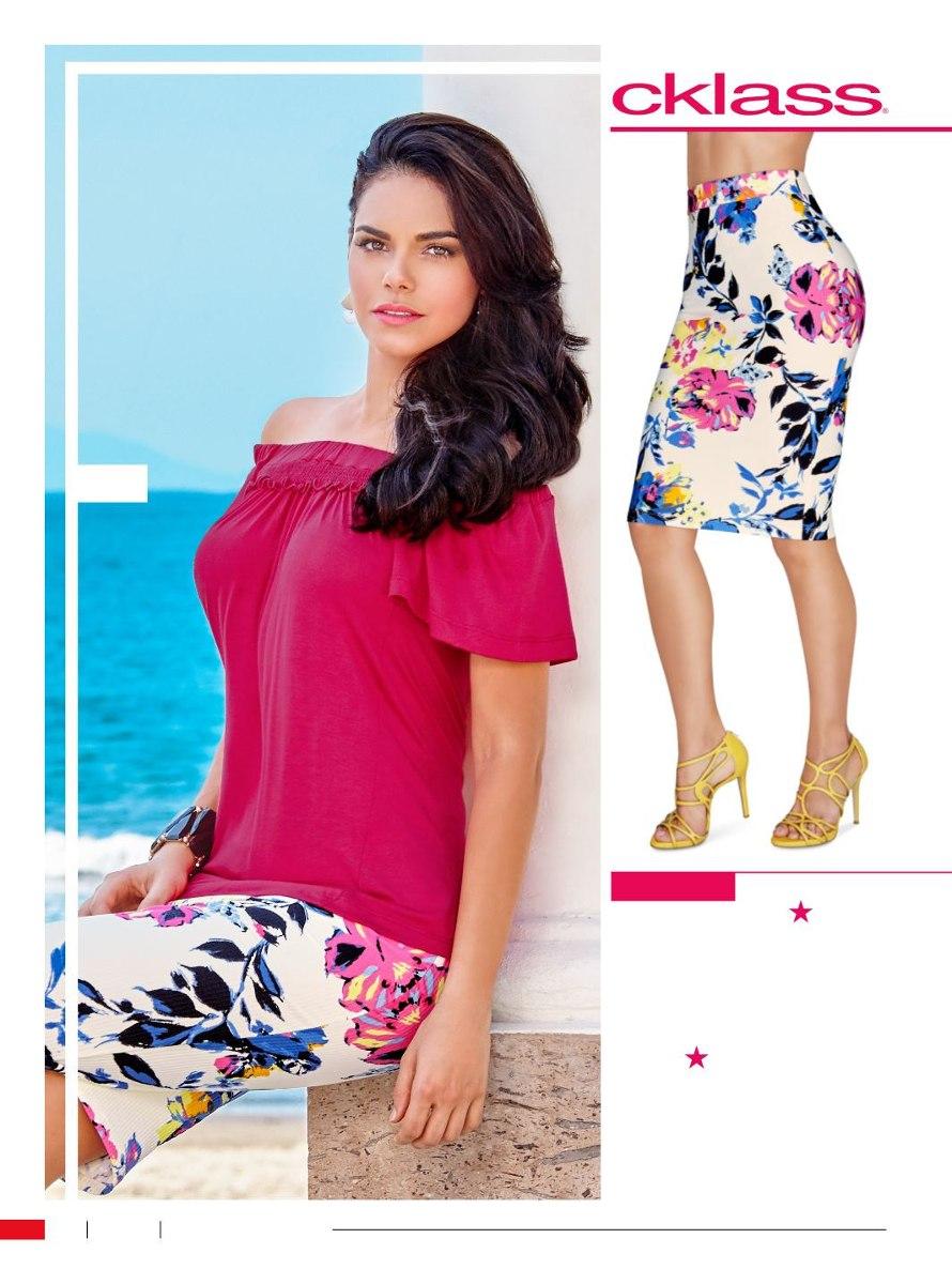 Padrísima Falda Floreada De Moda Cklass -   359.00 en Mercado Libre 0508fc0712ae