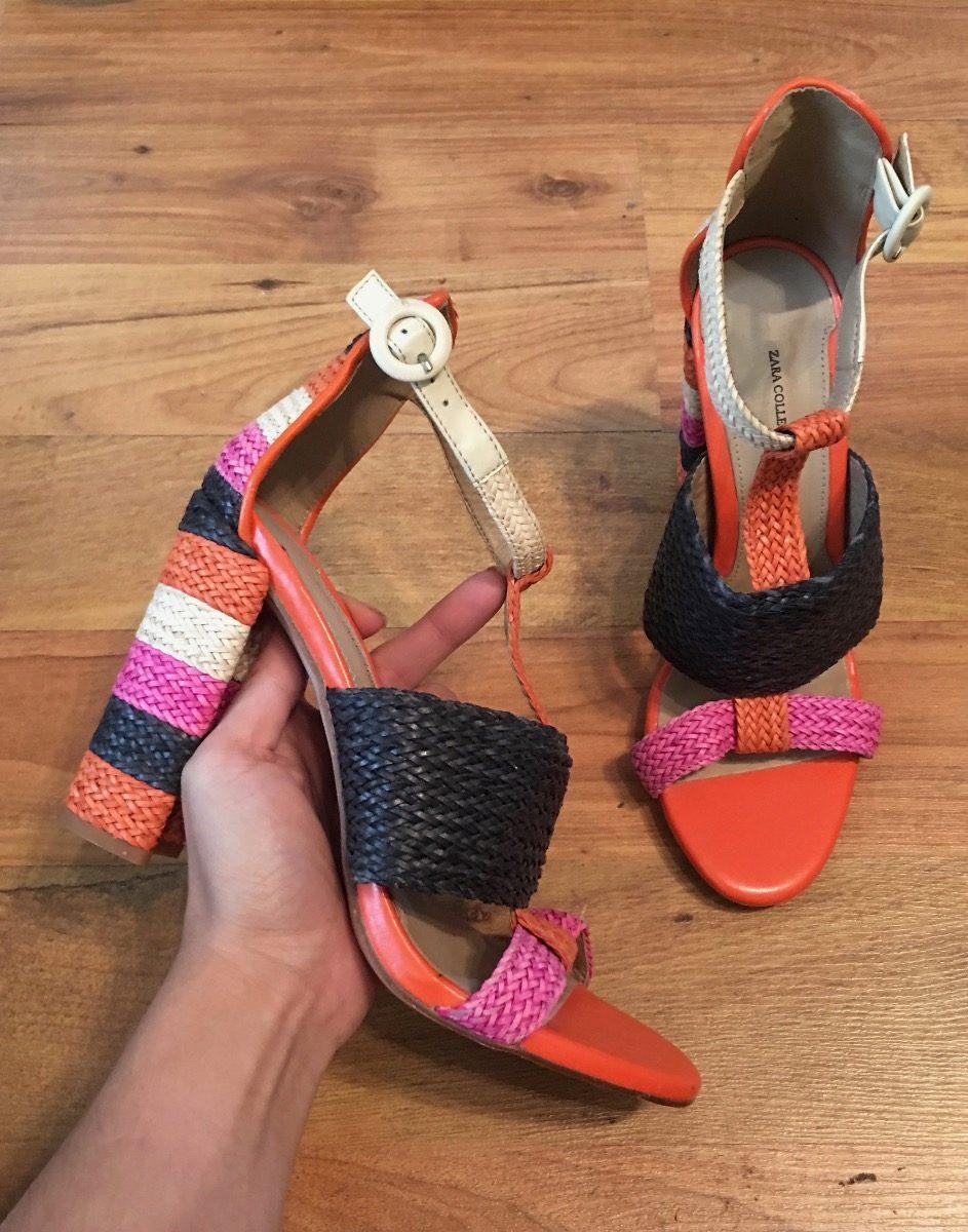 Collection Zara Colorized Tejidos Tacones Padrisimos Rrcqg46w Zapatos qxBU4I