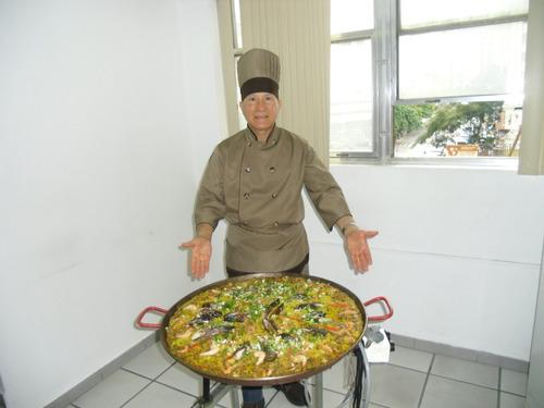 paellas, chef paellero a domicilio o delivery