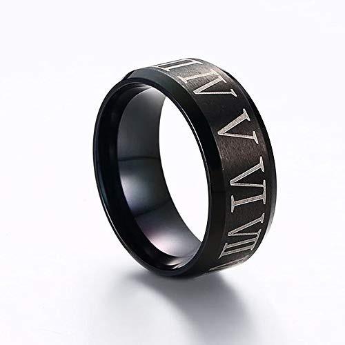 pag. anillo  hombres blake 8 mm acero titanio plateado blak