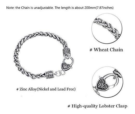 Dawapara Pagan Domovoi Slavic Idol Charm Wheat Chain Bracelet for Men Women Gift