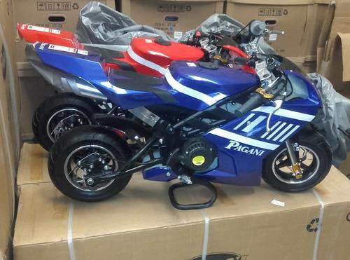 pagani para chicos mini moto pista 49 cc