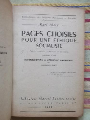 pages choises pour une ethique socialiste karl marx