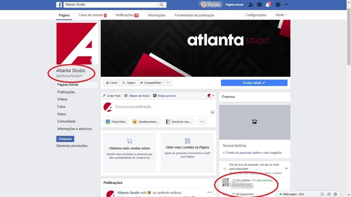 b1c939080 Página Facebook 17 Mil Fãs - Loja De Roupas - R  190