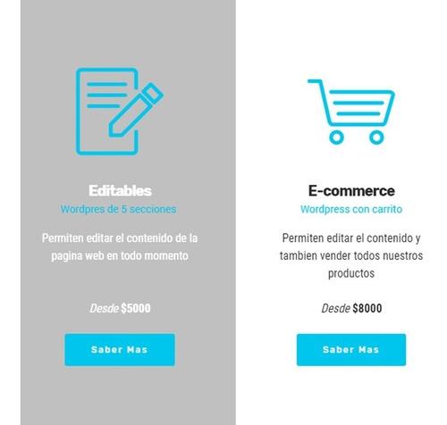 pagina web - 1 sola pagina landing - diseño web