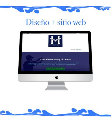 página web a 99.990 hosting+dominio extra: logo y diseños