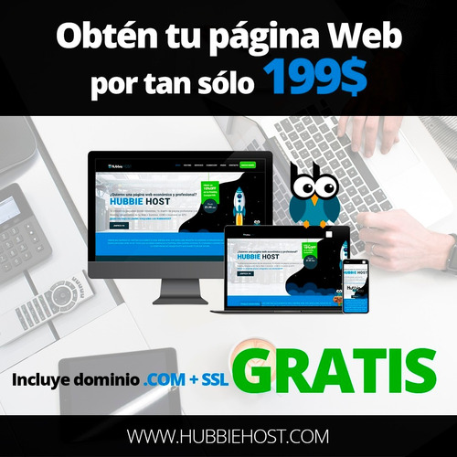 página web con dominio gratis