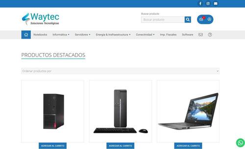 página web con hosting y dominio, páginas autoadministrables