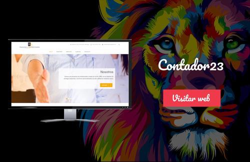 página web + dominio cl + hosting