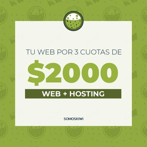 pagina web en cuotas - diseño web - tiendas online