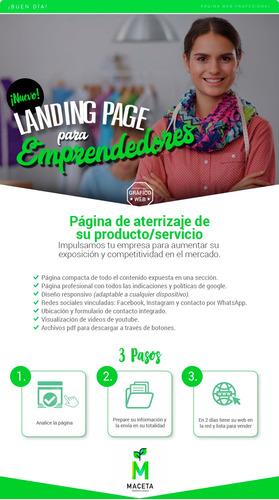página web / landing page para emprendedores