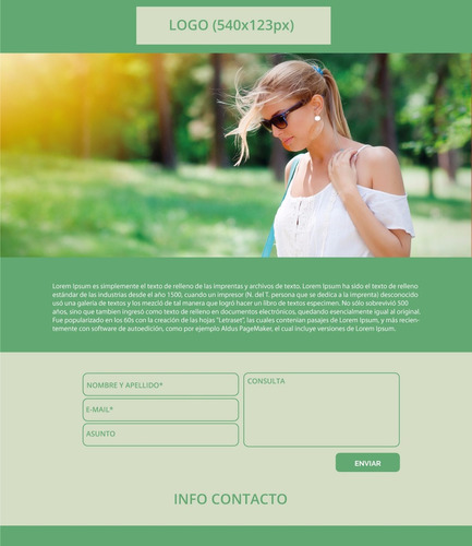 página web landing page responsive