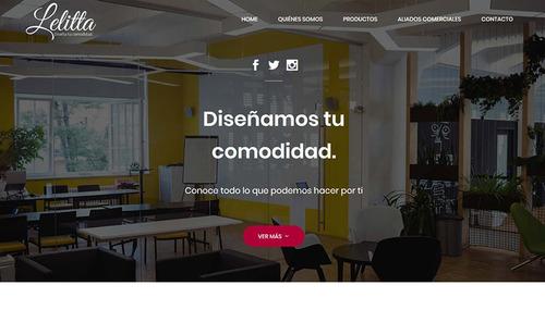 página web profesional con hosting/dominio. ¡págalo mensual!