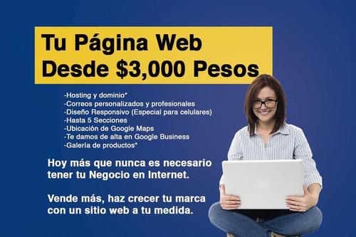 página web profesional para tu negocio