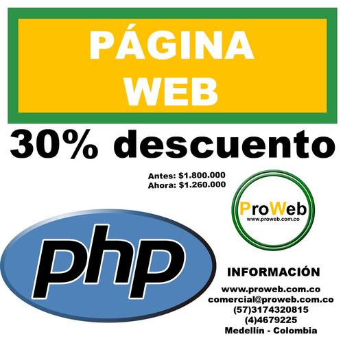 página web-tienda virtual-asesorías-hosting y dominios