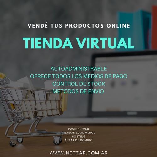 página web tienda virtual página auto administrable