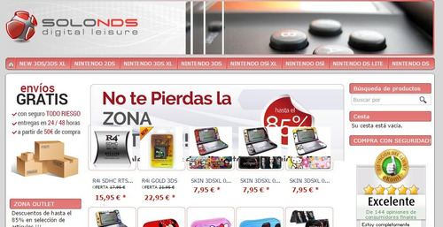 pagina web tipo tienda online + hosting y diseño