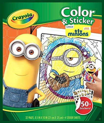 Páginas De Colores Y Pegatinas De Crayola - Minions - $ 62.990 en ...