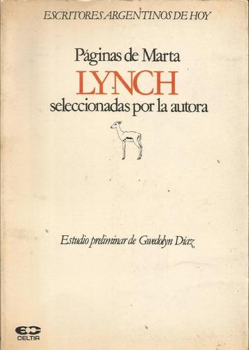 páginas de marta lynch seleccionadas por la autora