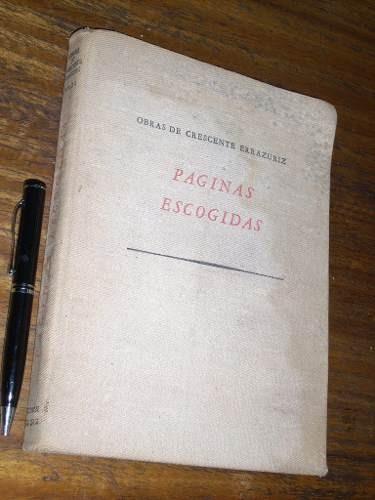 paginas escogidas 1 -  crescente errazuriz  ed. zigzag
