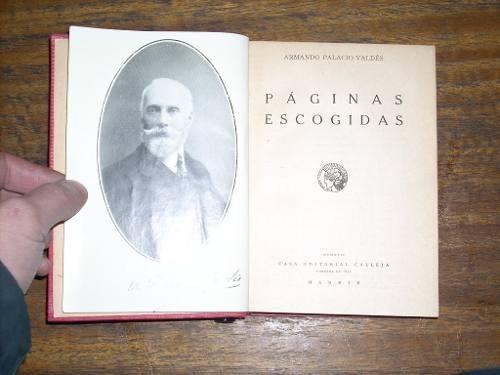 páginas escogidas - armando palacio valdés - calleja (1876)