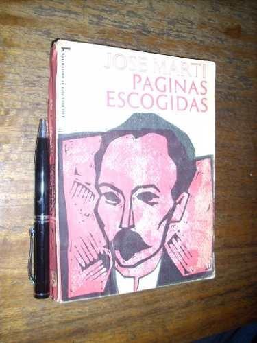 páginas escogidas josé marti editorial nacional de cuba 1965