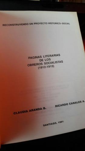paginas literarias de los obreros socialistas. 1912 a 1915