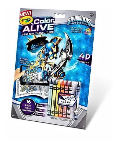 páginas para colorear crayola: skylanders color alive acción