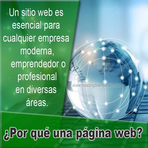 páginas web - diseño web gráfico - dominio - hosting y más