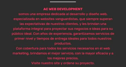 paginas web, diseño y creación.