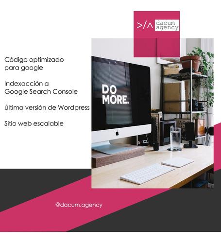 páginas web. diseño y desarrollo. paquete primeros pasos