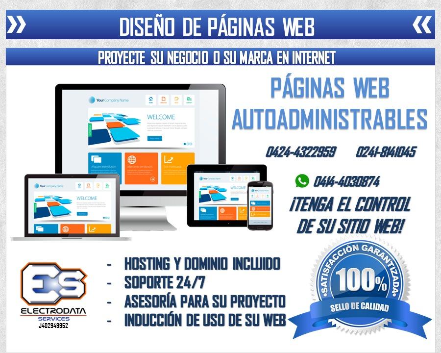 páginas web diseños al instante promoción hosting y dominio - en