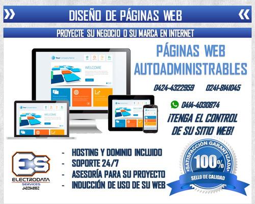 páginas web diseños al instante promoción hosting y dominio