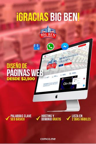 páginas web económicas + chat + whatsapp + alta google