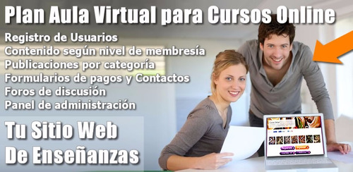 páginas web empresarial, tienda virtual, aula virtual, chat
