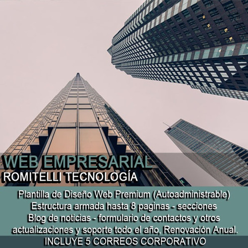 páginas web empresarial wordpress autoadministrable +email