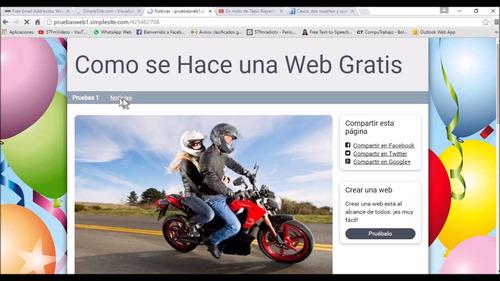 páginas web inmediatas para pequeñas empresas, en 24 horas.