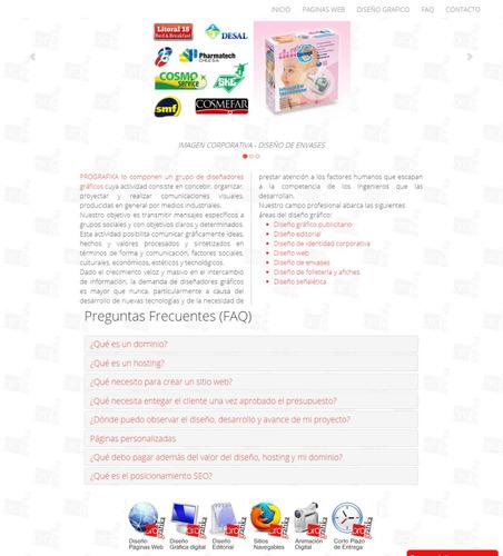 páginas web personalizadas, autoadministrables y responsivas