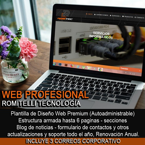 páginas web profesional wordpress autoadministrable + email