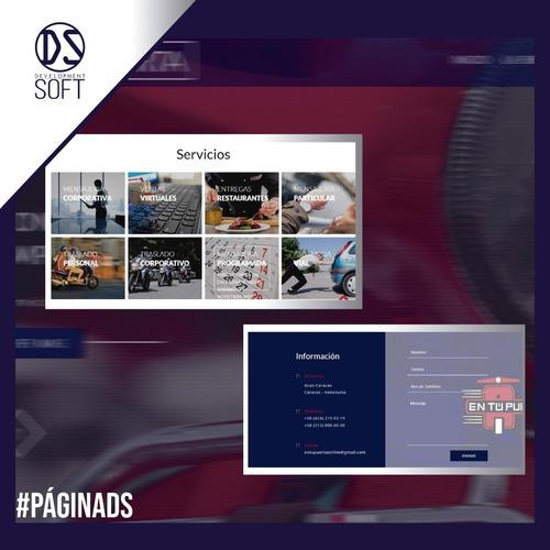 paginas web. tiendas virtuales. sistemas administrativos